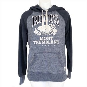 Roots Mont Tremblant Hoodie Beaver Logo Top